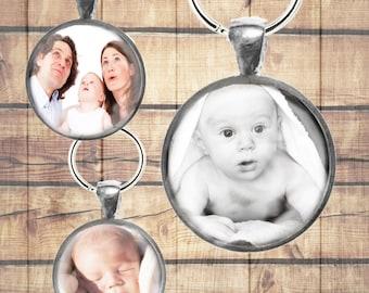 Custom Photo Keychain - Photo Keepsake - Personalized Photo Gift - Gifts Under 20 - Custom Photo Key Charm - Photo key Pendant
