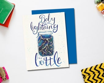 Lightning in a Bottle Greeting Card