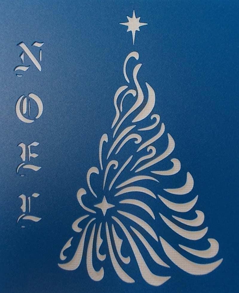 Christmas Tree Noel Stencil by kraftkutz on Etsy