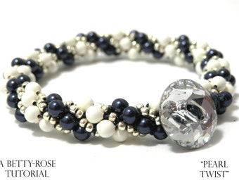 Tutorial for Pearl Twist Kumihimo Bracelet with Seed beads Instant Download PDF Beading Pattern