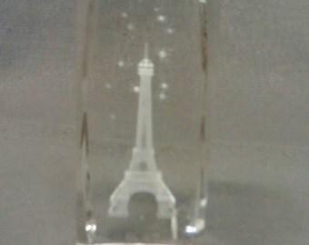 Paris Eifel Tower Glass Paperweight