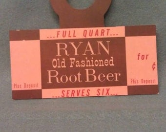 Ryan Old Fashioned Root Beer Bottle Hang Tag