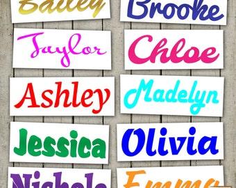 Yeti Tumbler Decal, Custom Name Vinyl Decal, Personalised Sticker, Cell Phone, Car, Laptop, Monogram, Macbook, Kids name, Boy, Girl