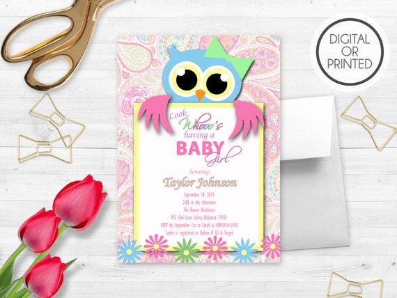 Owl baby shower invitation owl baby shower invites owl themed owl il570xn filmwisefo