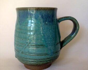 Handmade Ceramic Coffee Mug, 20 OZ  c1