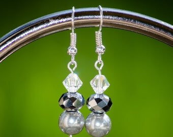 Grey Slay - Dangle Earrings