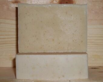 Unscented G'oatmeal And Honey Goat Milk Oatmeal Handmade Soap w/Shea Butter
