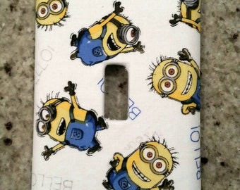 Minions light switch face plate