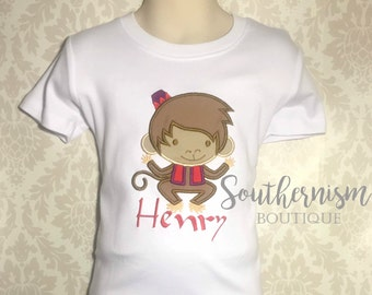 Boys Monkey Shirt, Abu shirt, Abu from Aladdin, Birthday Shirt, Boys Aladdin Shirt, Matching sibling Aladdin shirts