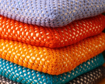 Handmade Fine Crochet Cushions - Choice of Colours - Free Delivery