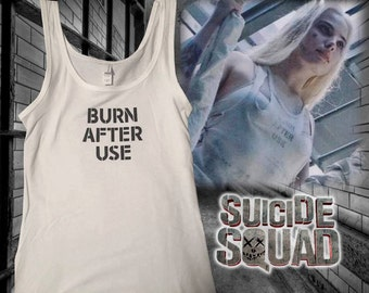 "Harley Quinn - ""BURN AFTER USE"" - Ladies Tank"