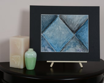 Tile Blue and Black #2