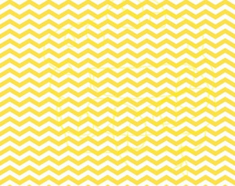 Yellow Chevron on White Cardstock Paper