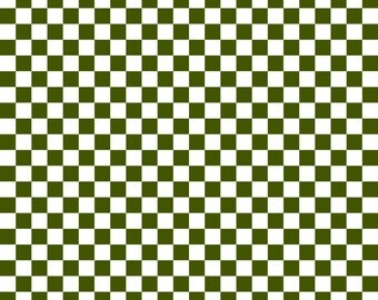 Olive Green Checkered Cardstock Paper