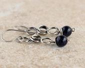 Sterling Silver Earrings- Wire Wrapped Earrings- Jewelry For Girlfriend - Jewelry For Wife - Boho Earrings- Bohemian Earrings- Gift For Wife
