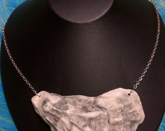 Large grey shell necklace