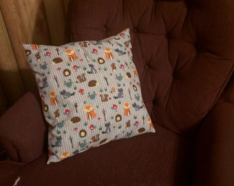 Woodland Creatures Couch Pillow Pair