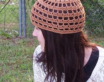 Crochet PATTERN, Crochet HAT pattern for women, Beanie pattern for Spring and Summer, Open stitch, Easy crochet pattern in PDF format