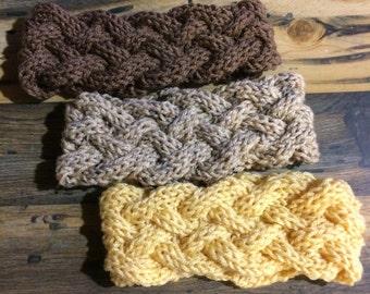 Women's 5-Strand Braided Knit Headband Ear Warmer