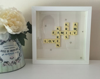 Scrabble Box Picture Frame any occasion Present