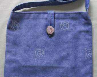 Blue squiggly cross body bag