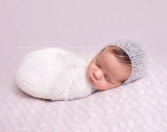 UK Seller, Newborn  Bonnet, Mohair, Mohair Newborn Bonnet, Mohair Bonnet, Newborn bonnet, 6-9 months mohair bonnet, 6-9 months bonnet.
