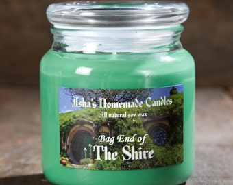 The Hobbit Bag End of the Shire Scented Soy Candle | 16 oz. | All Natural Soy Wax | Geek Gift Idea