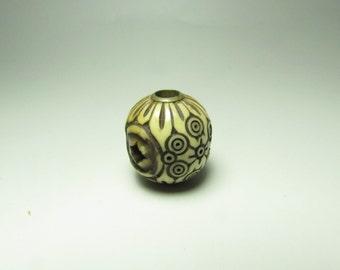 Japanese antique Ojime Inro accessory unique carving design