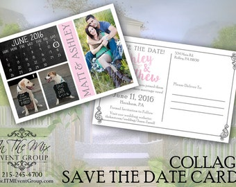 Save The Date Collage Postcards