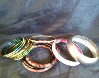 Vintage Bangle Bracelet Lot of 13