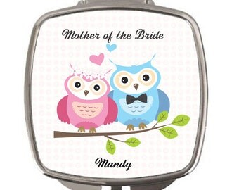 Mother of the bride, Thank you gift, Personalised Compact Mirror, wedding favours, gifts for bridal party