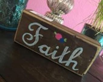 Faith Block Sign