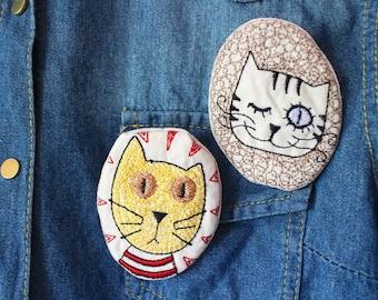 Cat Stitched Pin