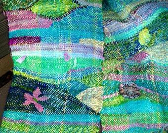 handwoven saori scarf