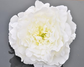 Giant White Artificial Peony, Stemless