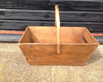 Wooden basket.
