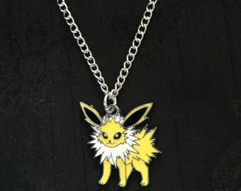 Silver Plated Pokemon Jolteon Necklace