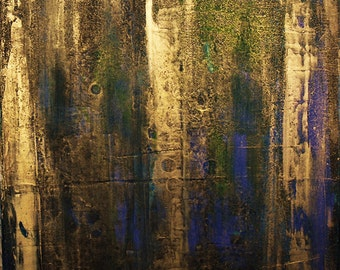 Canvas Art painting Gold Abstract Painting Blue painting Acrylic Abstract Modern fine art Gold wall art Modern canvas art Gold Wall Hanging