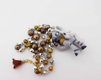 My Little Pony Zecora Pearl and crystal kawaii necklace cosplay jewelry