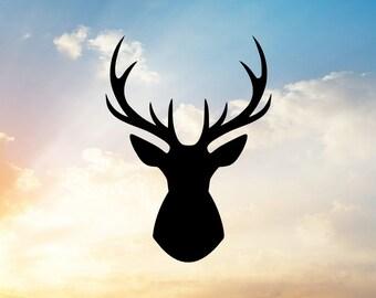 Reindeer SVG, Buck Head SVG,  Hunting Svg, Deer Svg, Buck Svg-- For Vinyl Cutting Machine