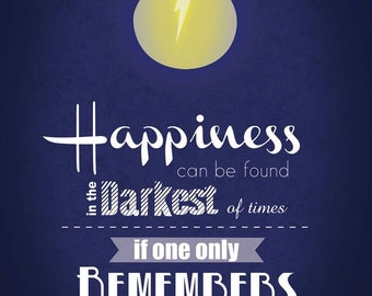 Harry Potter- Dumbledore Quote A3  Wall Print
