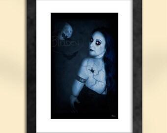 Goth Moon Art Print
