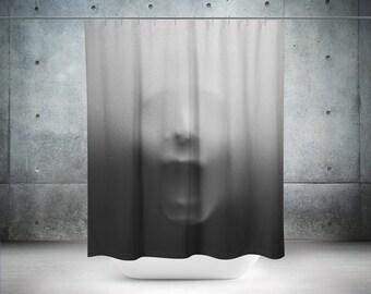 Halloween Shower Curtains | Funny Shower Curtains | Scary Shower Curtain | Grey Shower Curtain | Halloween Decorations | Halloween Decor