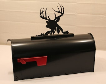 Deer- Buck-Mailbox Topper-Metal outdoor art