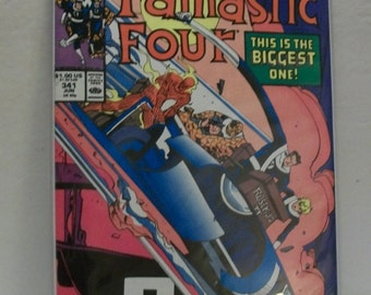 1990 The Fantastic Four #341  Thor , Iron Man,  Galactus VF-NM Vintage Marvel Comic Book
