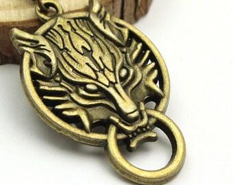 Final Fantasy Necklace, Final Fantasy VII, Advent Children, Bronze Wolf, VII Cloud Wolf,