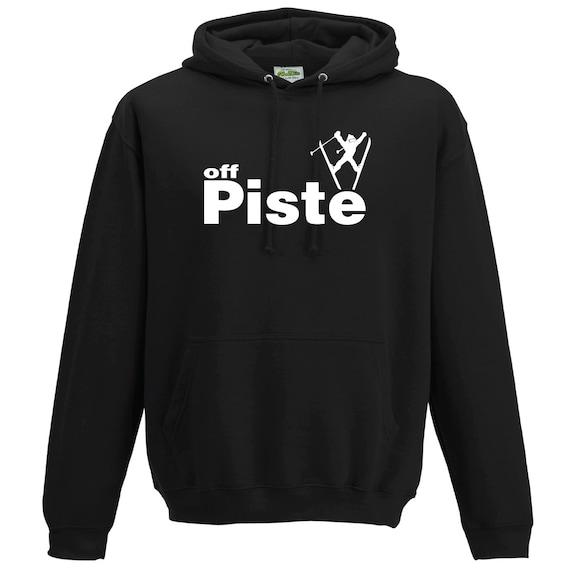 Off Piste Skiing Hooded Sweatshirt. Unisex sweatshirt.