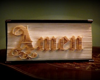 Amen (cut and fold) Book folding pattern