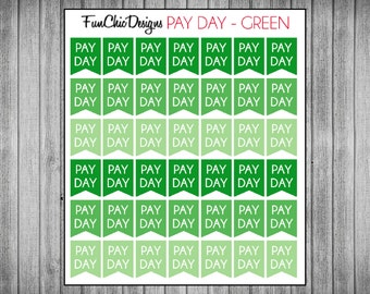 Mini Pay Day Flag Planner Stickers - Multiple Color Options