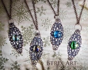 Bronze filigree necklaces - GOTHIC STYLE
